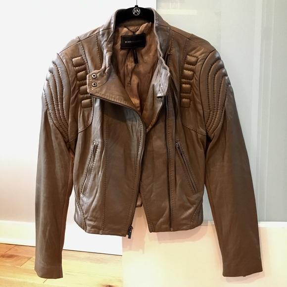 ff7607fe8ea85a BCBGMaxAzria Jackets   Blazers - BCBGMaxAzria Leather Moto Jacket